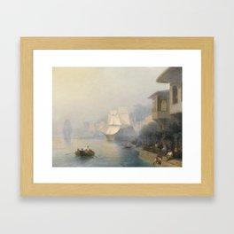Bosphorus by Ivan Konstantinovich Aivazov Framed Art Print