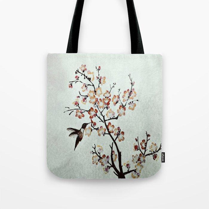 Delicate humming-bird Tote Bag
