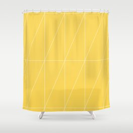 Yellow Triangles by Friztin Shower Curtain