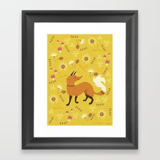 Cute as a Fox Framed Art Print