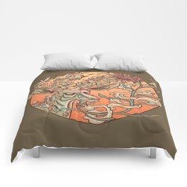 Deer Smoke & Indian Paintbrush Comforters