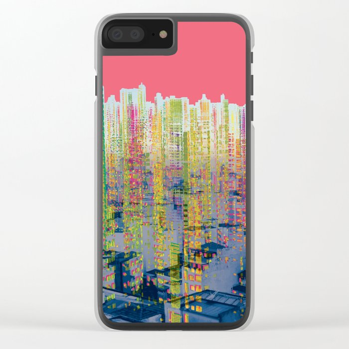 Fragmented Worlds II IV Clear iPhone Case