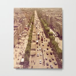 One Day In Paris Metal Print