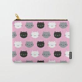 Cute Cats & Kawaii Kittens (Pink) Carry-All Pouch