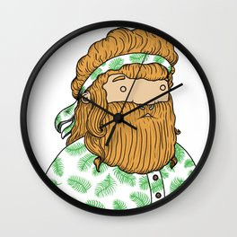longboarder by naki Wall Clock
