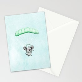 Cutie Parachuting Elephant Stationery Cards
