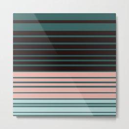 Five colors striped art homedecor Metal Print