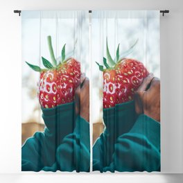 Ludwig Strawberry Blackout Curtain