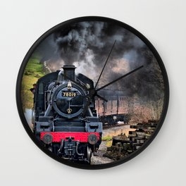 78019 Steam Train Wall Clock