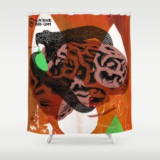 Dark Brains Club Shower Curtain