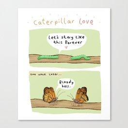 Caterpillar Love Canvas Print