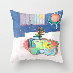 Pretty Cages Throw Pillow
