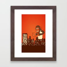 monkey on your back Framed Art Print