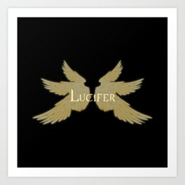 Lucifer with Wings Light Art Print