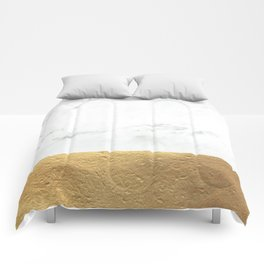 Color Blocked Gold & Marble Comforters