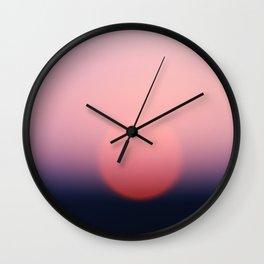 blurry sundown [sky series] Wall Clock