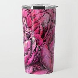 Peonies three pink Travel Mug