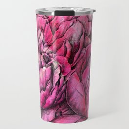 Peonies three pink Travel Mug