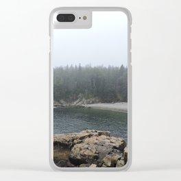 Acadia Maine Beach Clear iPhone Case