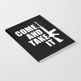 Come and Take it with AR-15 inverse Notebook