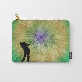 Green Tie Dye Golfer Silhouette Carry-All Pouch