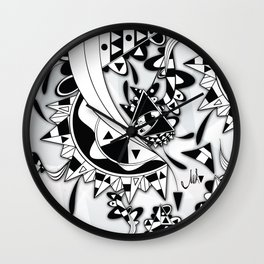 white Triangle Wall Clock