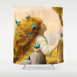 Unfurling Glory Shower Curtain
