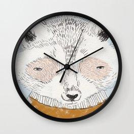 RACCON ILLUSTRATION Wall Clock
