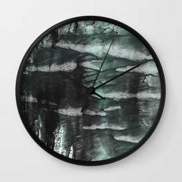 Gray abstract watercolor Wall Clock