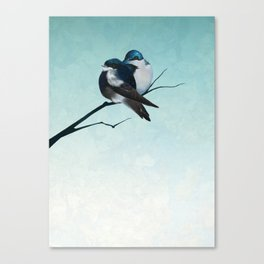 WINTER TREE SWALLOWS Canvas Print