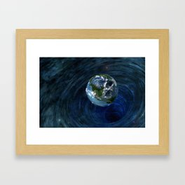 Earth Is In Trouble Framed Art Print