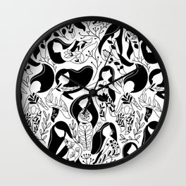Floral woman. Wall Clock