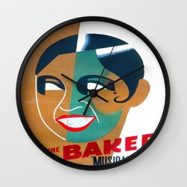 Josephine Baker Vintage Poster for Stockholm Wall Clock