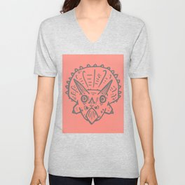 Asteroid Anxiety - Triceratops Unisex V-Neck