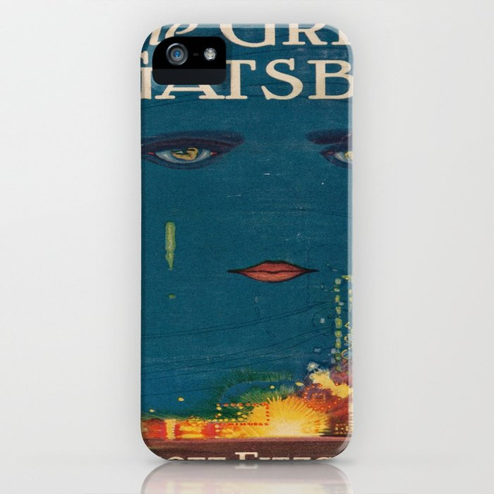 The Great Gatsby vintage book cover - Fitzgerald - muted tones iPhone Case