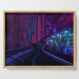 Tokyo Nights / Glitch City / Liam Wong Serving Tray