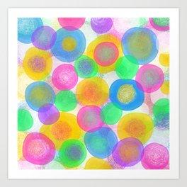 Paramecium Dots Art Print