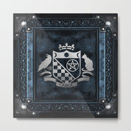 Cabot Silver Embossed Collection Metal Print