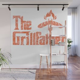 Grillfather Funny Grill Party Grilling Summer Gift Wall Mural