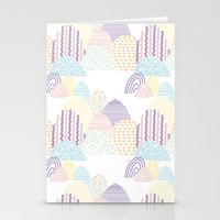 memphis Stationery Cards featuring Memphis pastel by Flor Tate