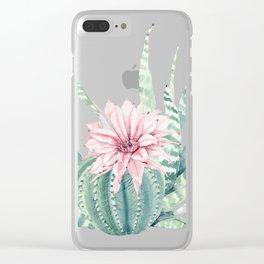 Petite Cactus Echeveria Clear iPhone Case