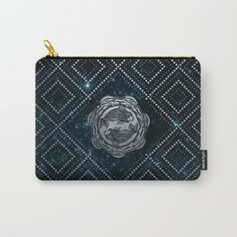 Pisces Zodiac Silver Embossed on the Star sky Carry-All Pouch