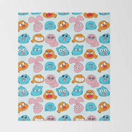 Gumball Faces Pattern Throw Blanket