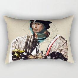 Jan Gossaert and the Buisness Man Rectangular Pillow
