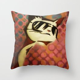 Meow~ Throw Pillow