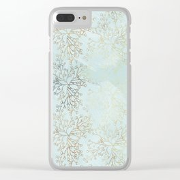 Wanderers Blue Floral Mist Clear iPhone Case