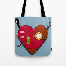 Robot Heart Tote Bag