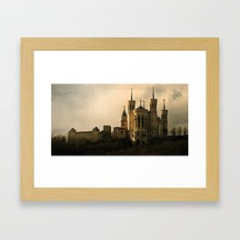 Basilica of Our Lady of Fourvière in Lyon, France Framed Art Print