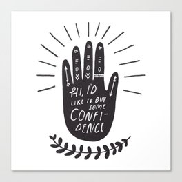confidence Canvas Print