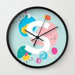 S Monogram Wall Clock
